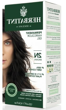 Herbatint Permanent Herbal Hair Color Gel, 2N Brown, 4.56 Ou
