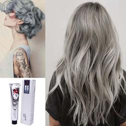 Hunputa Popular Punk Silver Grey Permanent Hair Color Dye Ha
