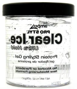 AMPRO PRO STYL CLEAR ICE PROTEIN HAIR GEL ULTRA HOLD ALCOHOL