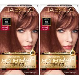 L'Oreal Paris Superior Preference Permanent Hair Color, 6r L