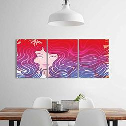 Analisahome Color 3 Piece Wall Art Painting Frameless Little