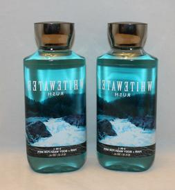 3 Bath & Body Works WHITEWATER RUSH FOR MEN Hair & Body Wash